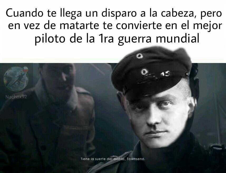 Pinshi baron rojo - meme