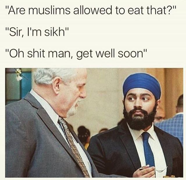 A sick muslim - meme