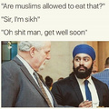 A sick muslim