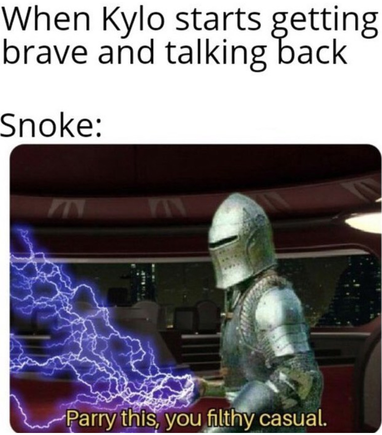 Snoke was such a lame character - meme