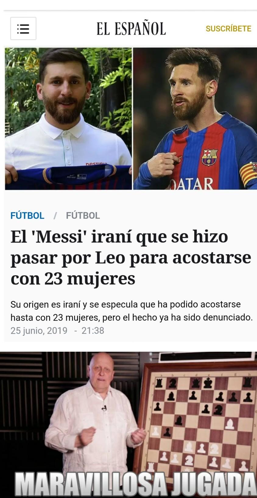 Messi mete gol de palomita!!! ¡¡La albiceleste se llena de emoción!! - meme