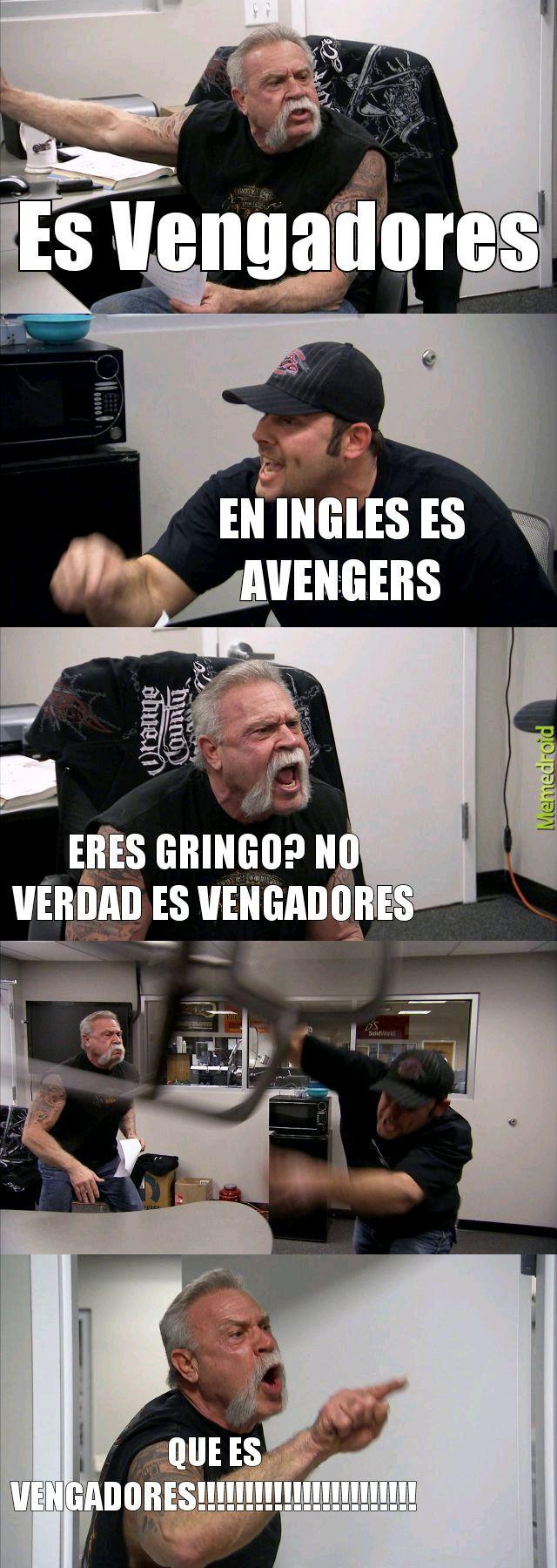 Vemgadores o Avengers como lo dicen? - meme