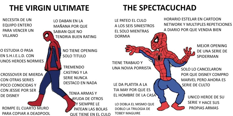 La mejor serie de spiderman (el cómic y la película me la sudan) - meme