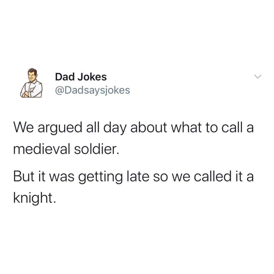 Fresh dad joke of the day - meme