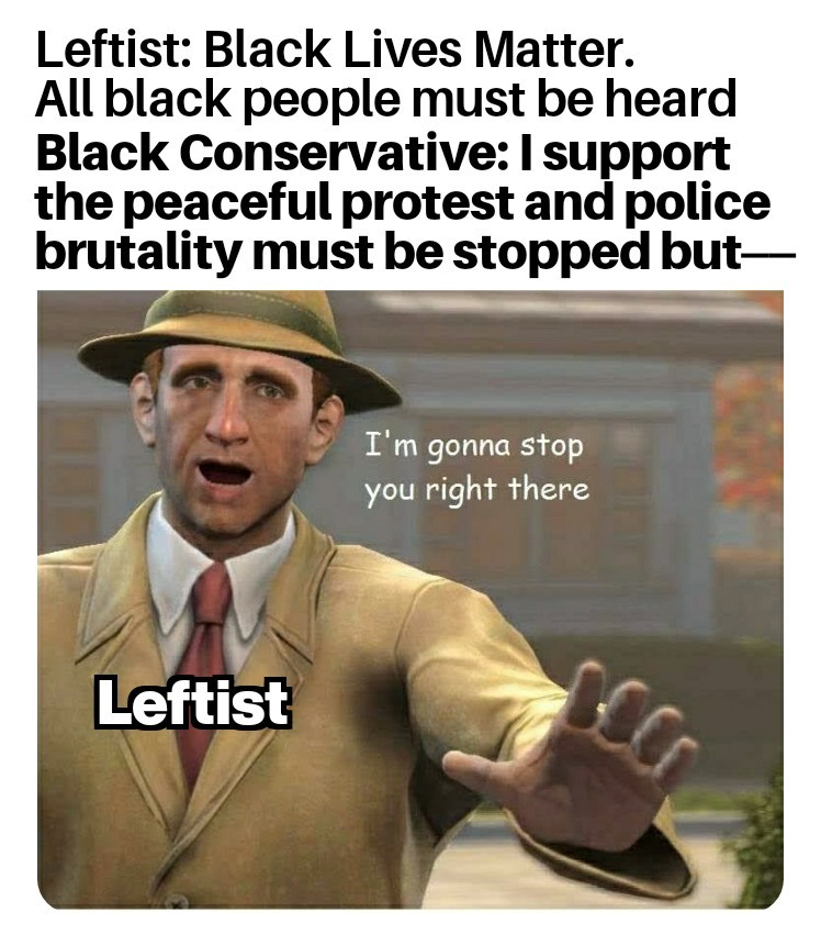Lately a lot of leftist think they're all right - meme