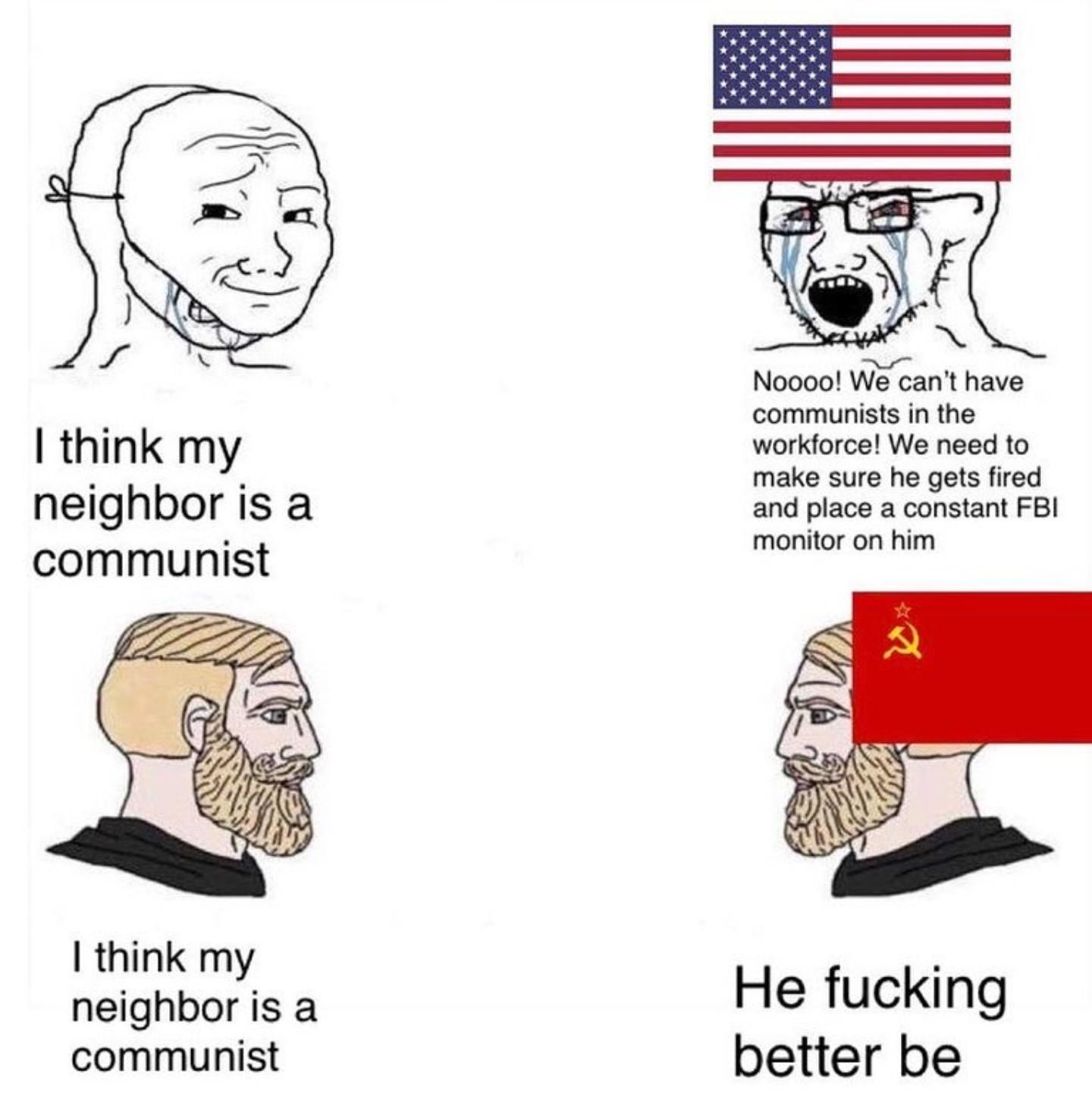 Better Dead than Red - meme