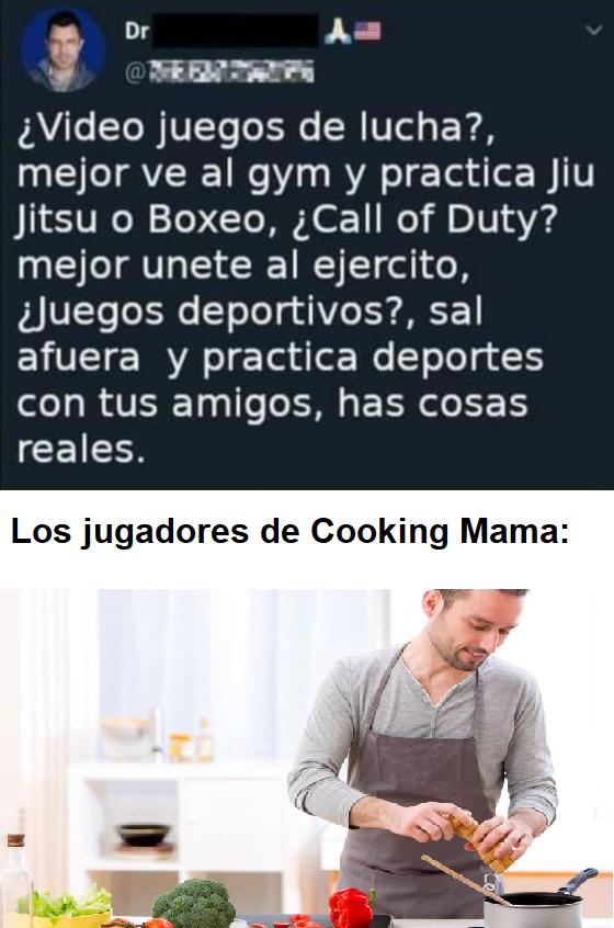 resumen del juego: cocinar - meme