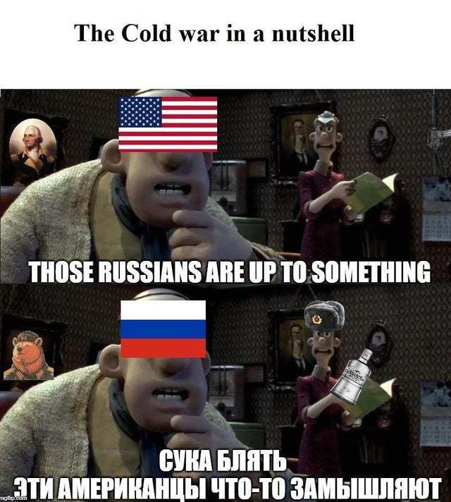 The cold war in a nuthshell - meme