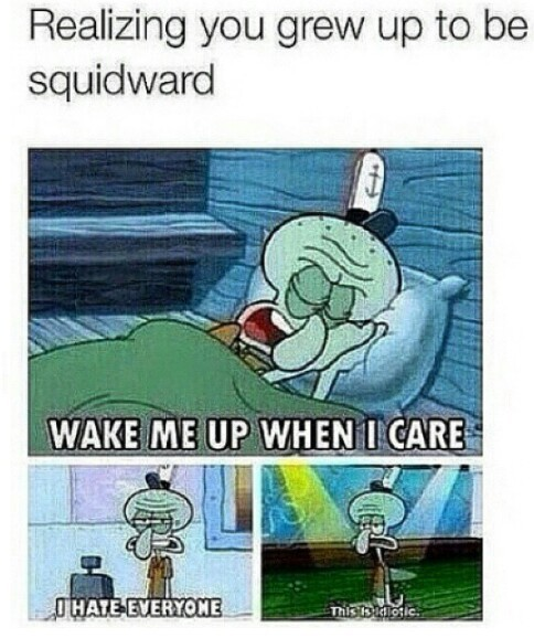 I'm squidward - meme
