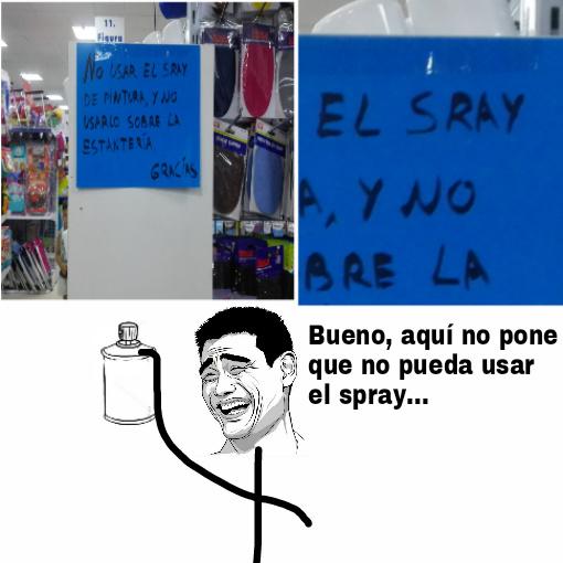 Sray no es spray... - meme