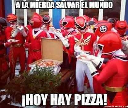 Go go Pizza Rangers - meme