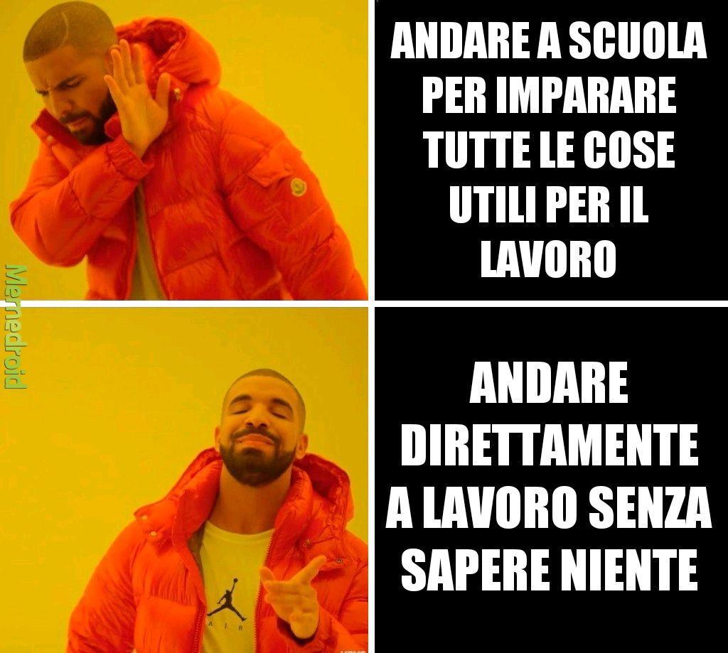 Scuola Vs Lavoro - meme