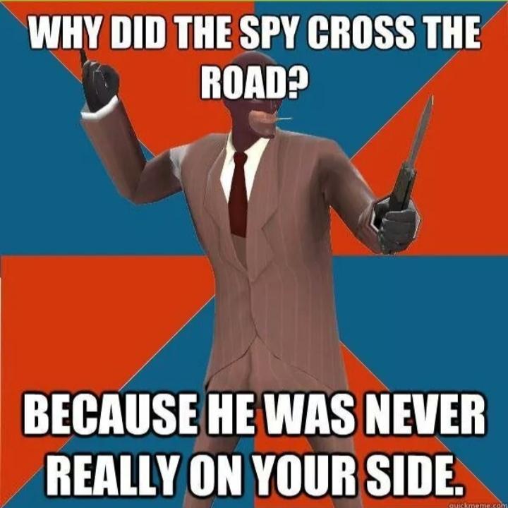 Damn Spys - meme