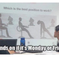 1st one for me is Friday and last for me is Monday