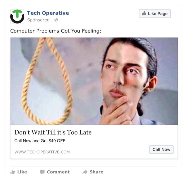 Funny Facebook AD - meme