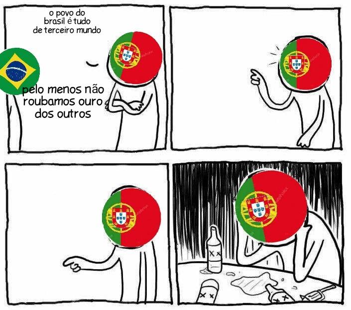 Português nem merece respeito - meme