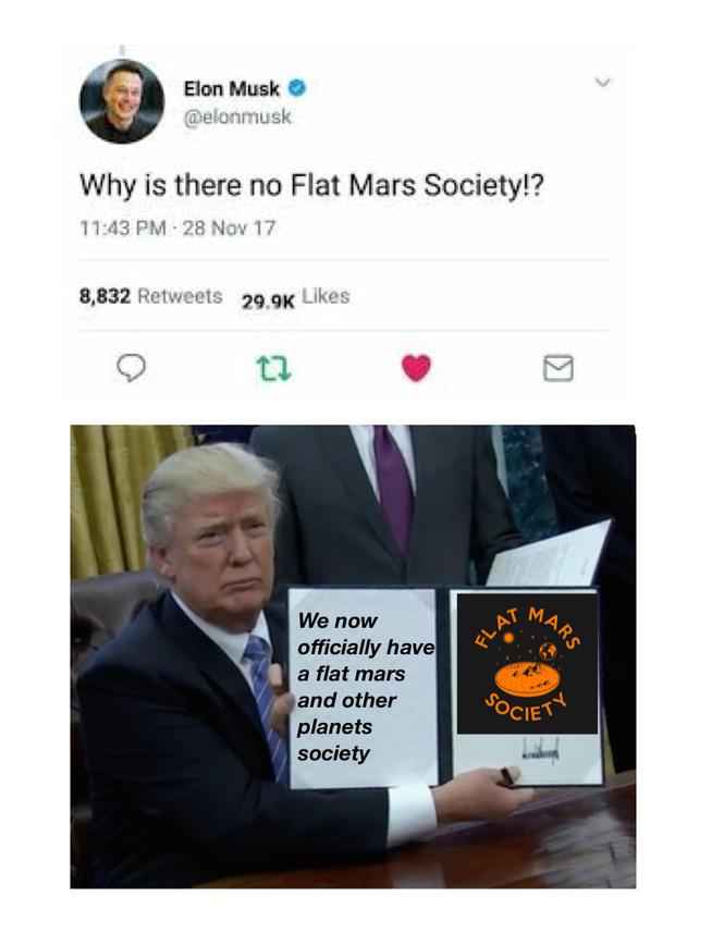 Flat mars society - meme