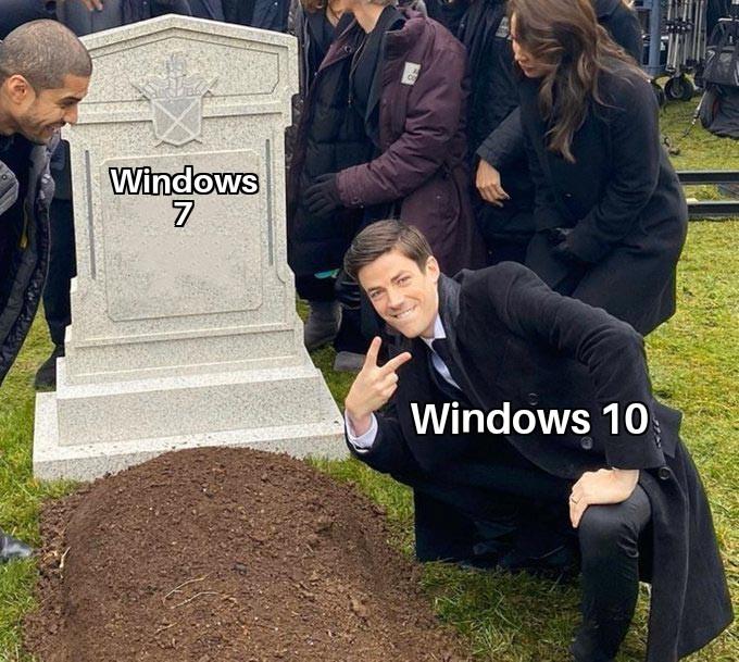 Cómo destesto a Microsoft - meme