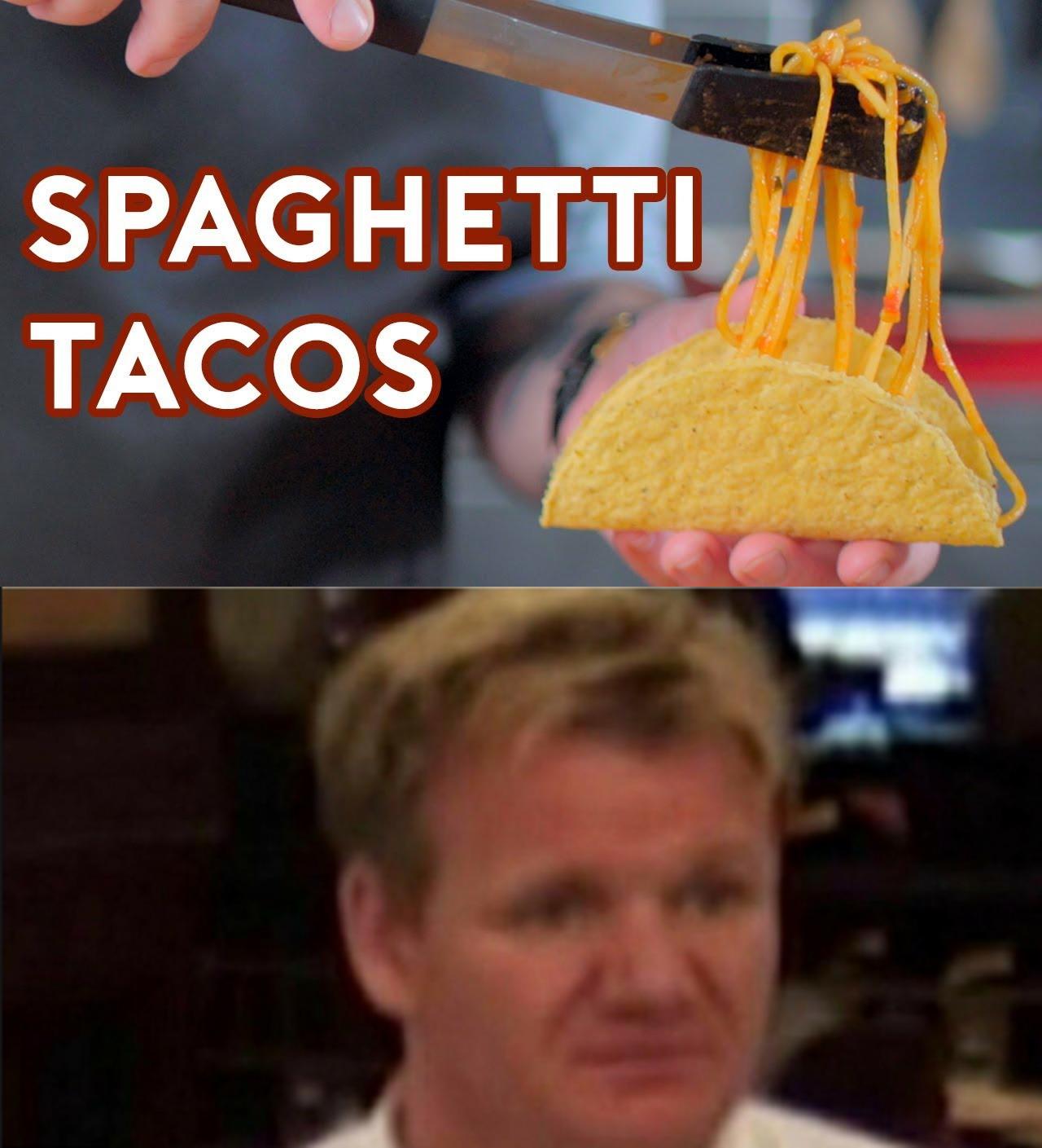 Spaghetti tacos - meme