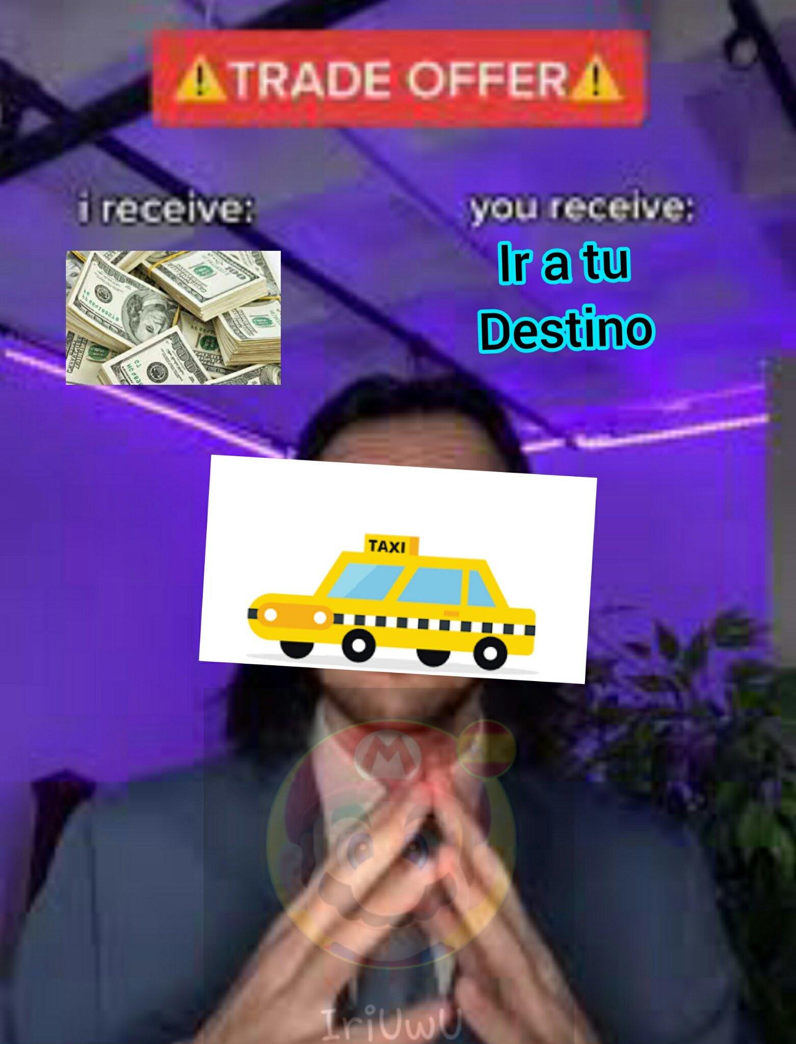 El título está buscando la cartera - meme