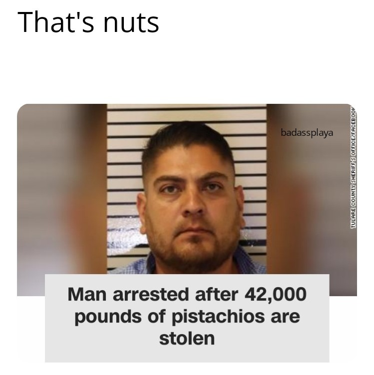 Where are they pistached? - meme