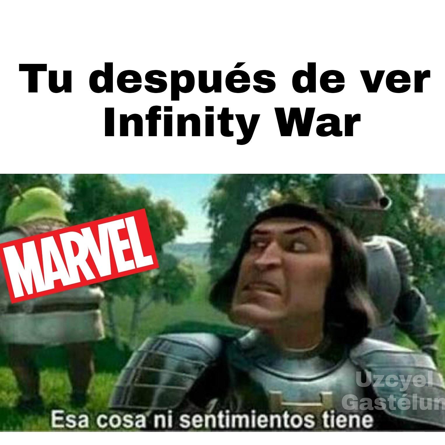 Yo despues de ver Infinity War - meme