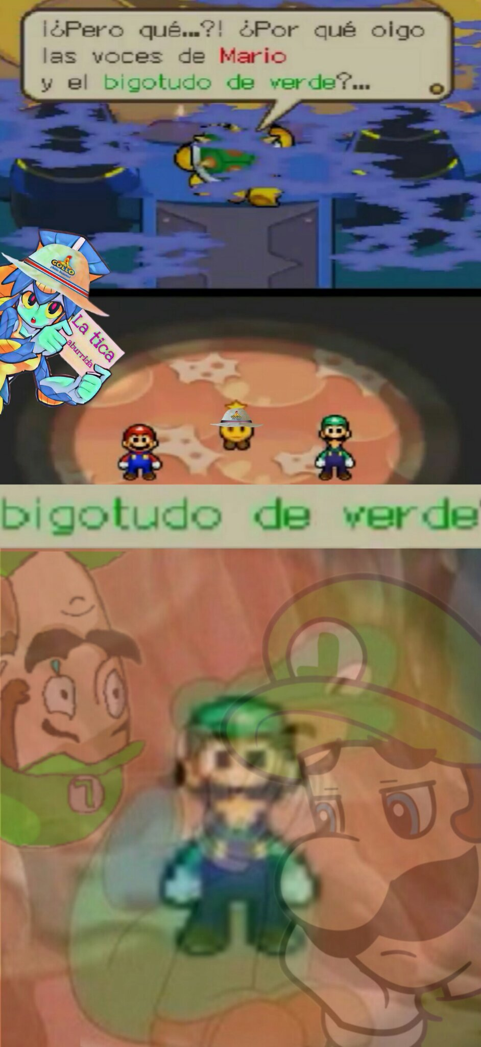 Luigi es superior a Mario,change my mindo :D - meme