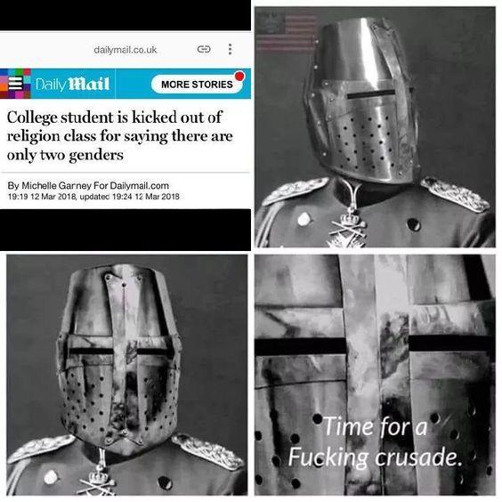 time for a fucking crusade - meme