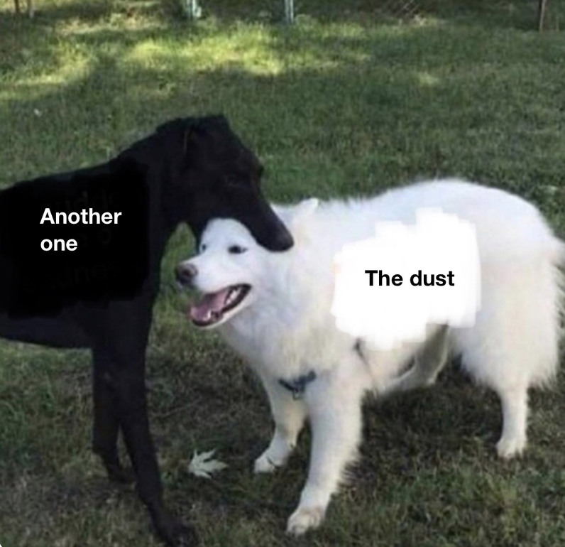 Another dog bites the dust - meme