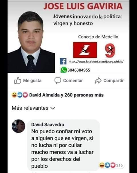 Vota por Gaviria - meme