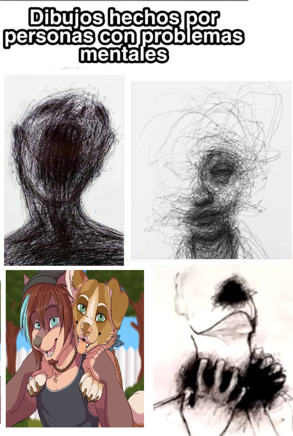 Dibujos hechos por personas mentalmente trastornadas - meme