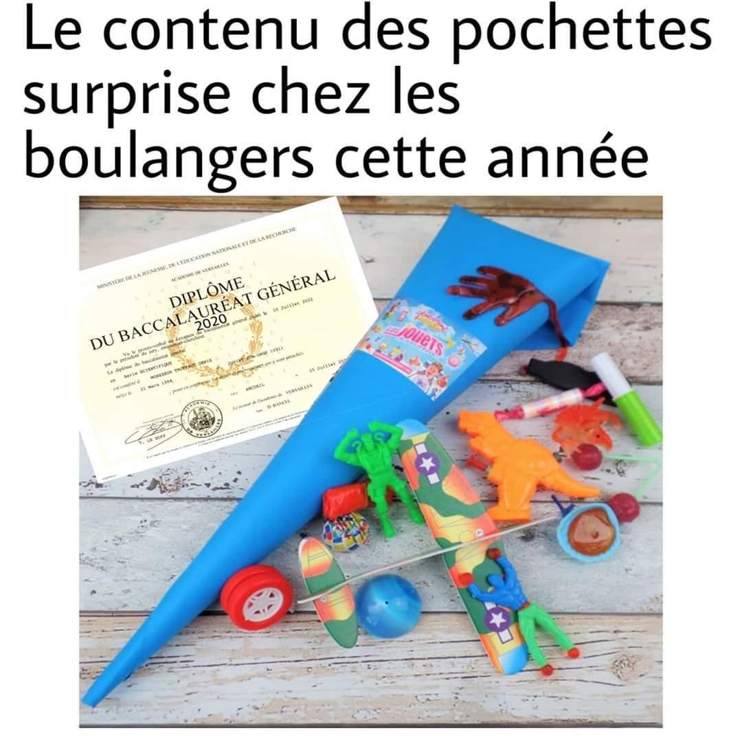 La fameuse pochette surprise du boulanger - meme
