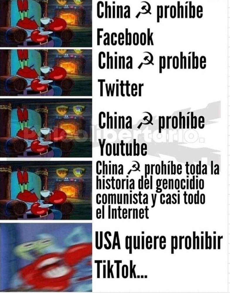 El tema es que USA es libre, China no. - meme