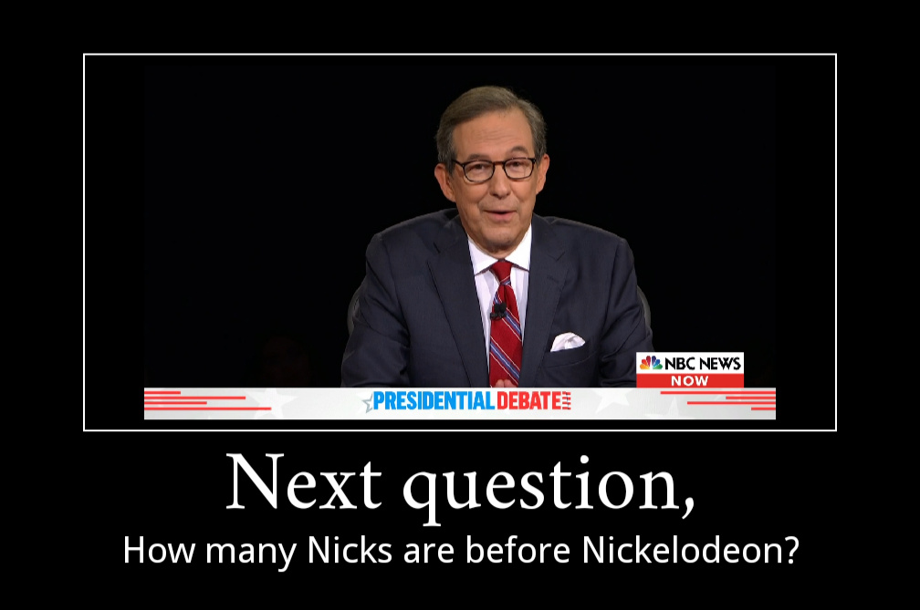 How many nicks are before Nickelodeon - meme