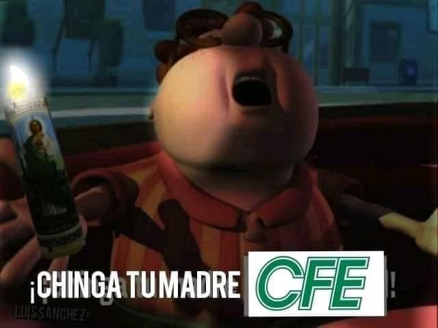 En Tamaulipas se fue la luz por el frio - meme