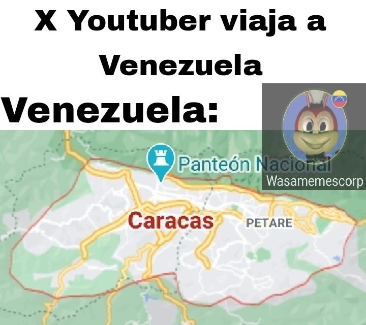 Es Caracas, la playa o el Salto angel, más nada - meme