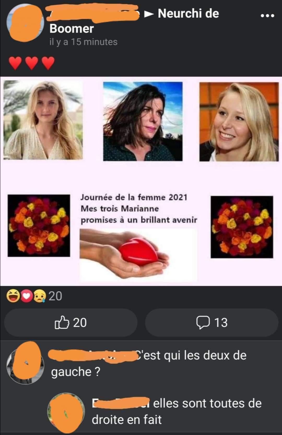 Thaïs d'escufon Charlotte d'ornellas Marion maréchal - meme