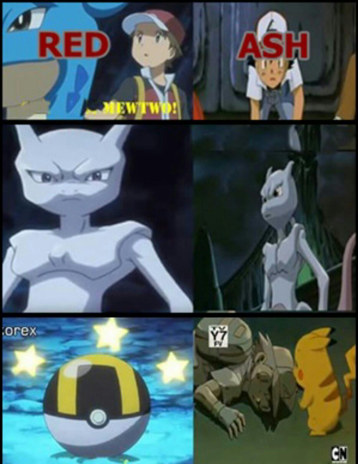 Ash is trash - meme