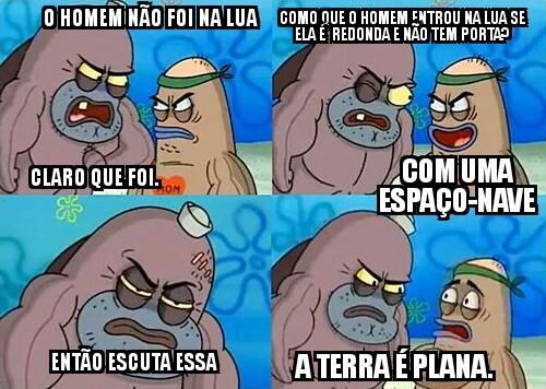 A TERRA E PLANA - meme