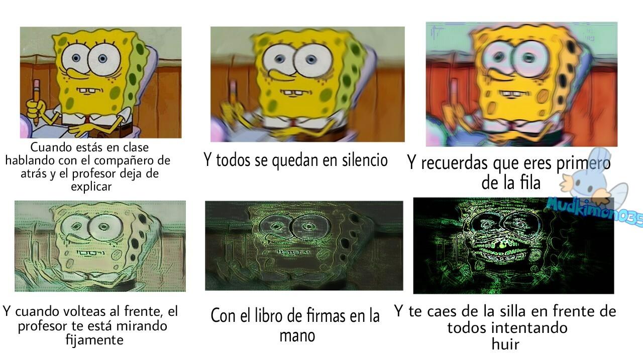 La cruda realidad en mi clase - meme