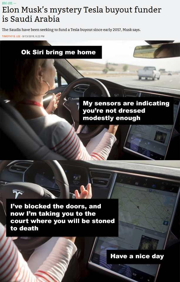Also no Tesla for Canada - meme