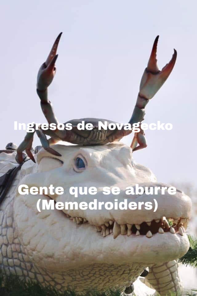 Al cangrejo le falta dinero - meme