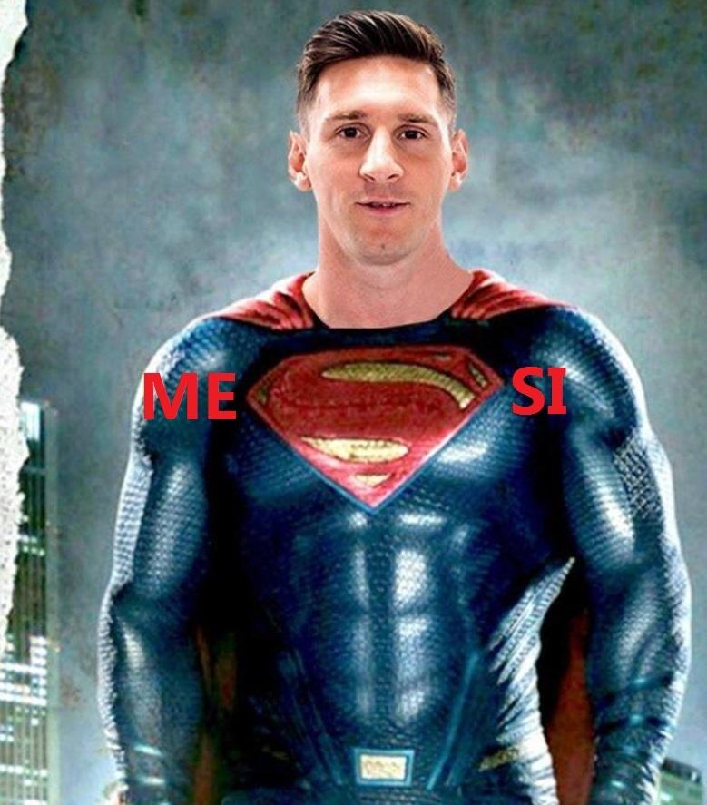 Messi SUPERMAN - meme