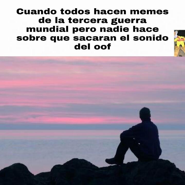 "Descanse en paz ""Oof"" 2009-2020 - meme"