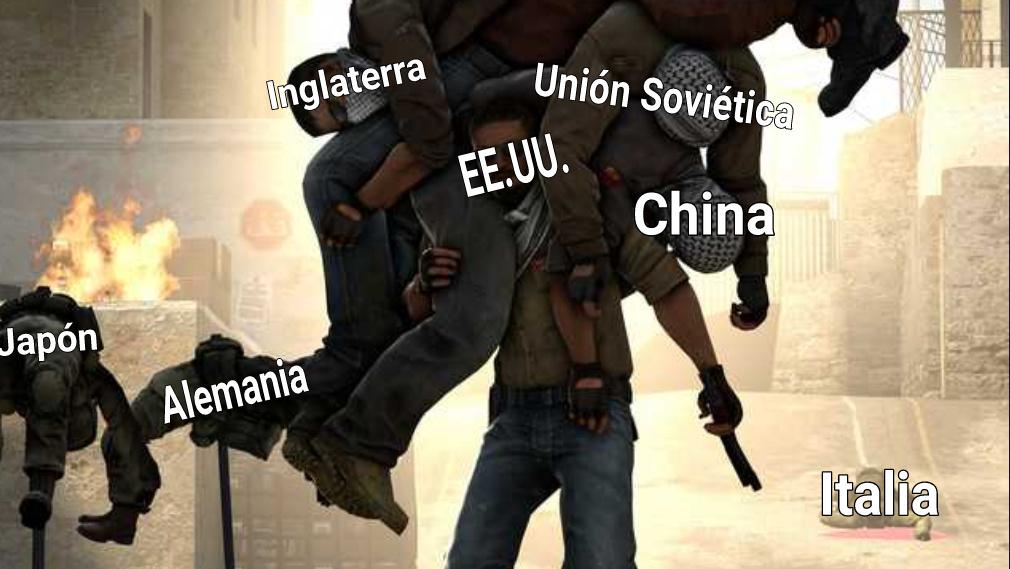 EE.UU. carrileando la 2GM - meme