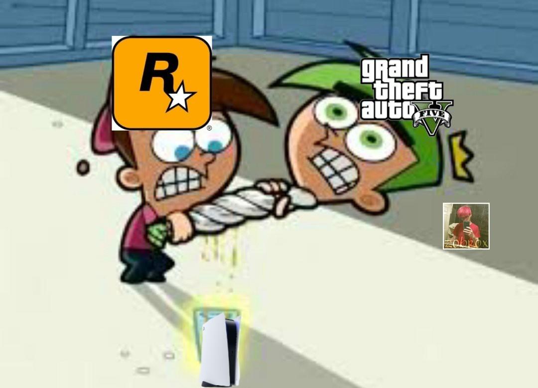 Ya van 3 generaciones de consolas con GTA5 - meme