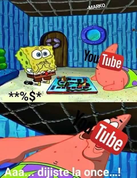 Youtube y sus reglas infantiles - meme
