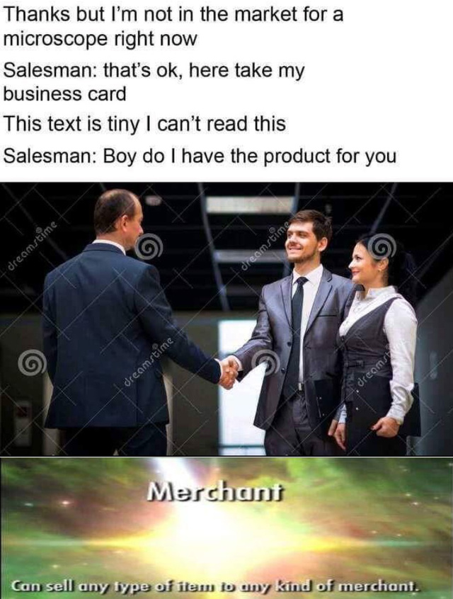Merchant 100 - meme