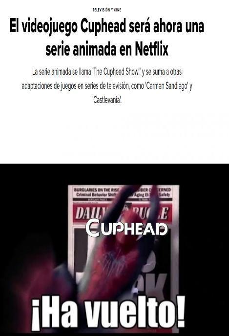 Cuphead ha vuelto y lo hará en 2020 con el dlc - meme