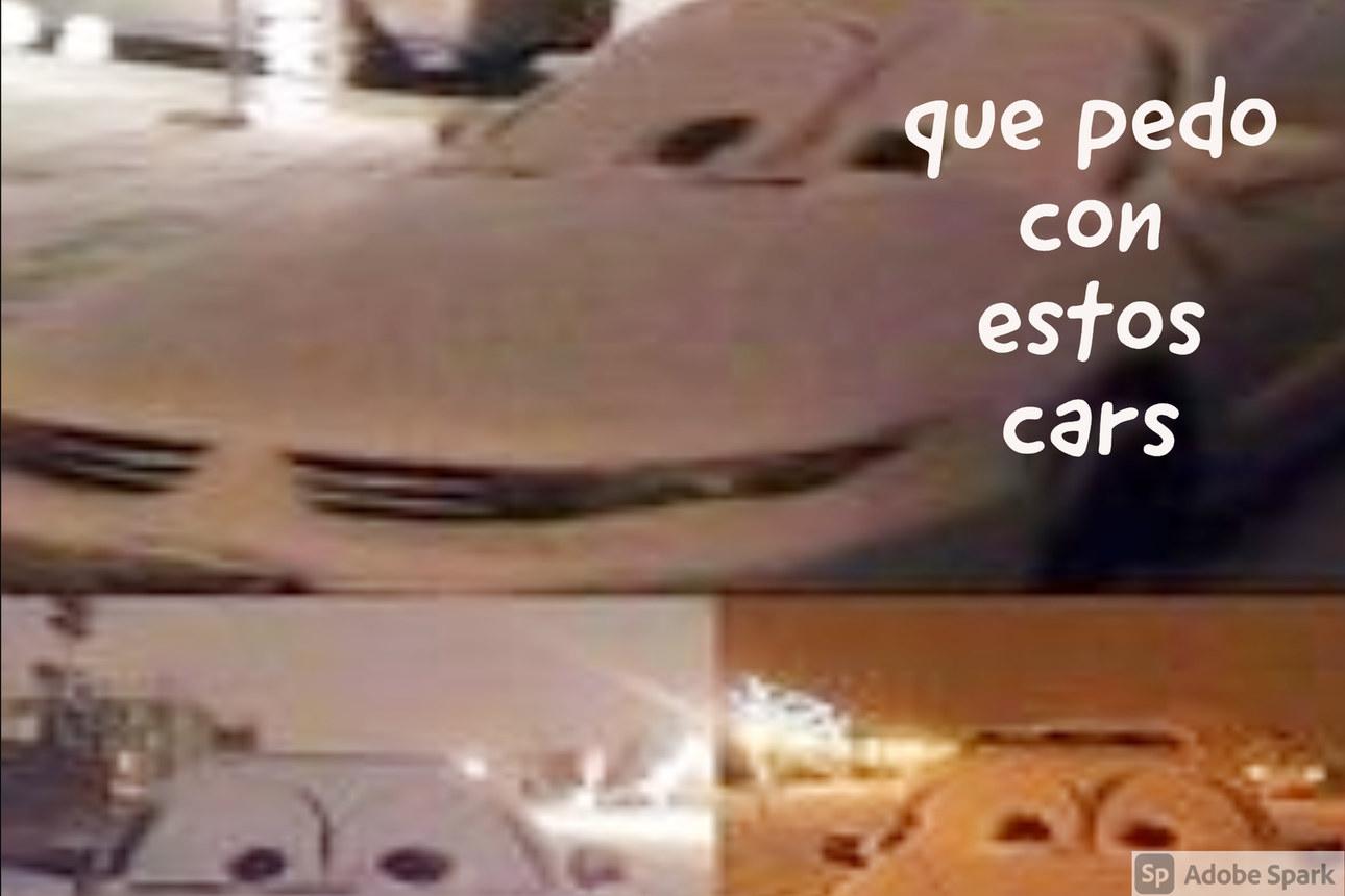 tu den en la nieve pero encuentras con estos cars - meme